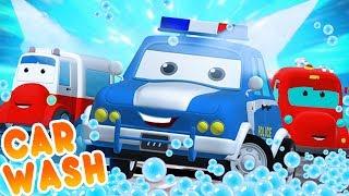 Video Road Rangers Go To Car Wash | Car Cartoons For Children MP3, 3GP, MP4, WEBM, AVI, FLV September 2018