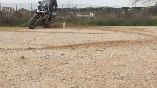 10. BMW R1200GS LC drift 270 left and 90 right(slow motion)