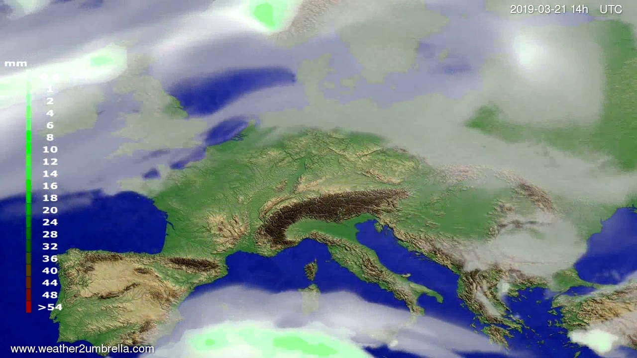 #Weather_Forecast// Precipitation forecast Europe 2019-03-19