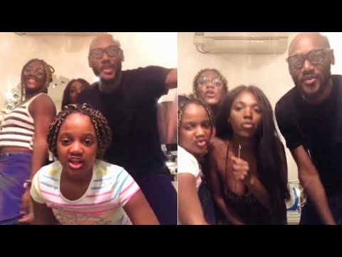 Watch 2face Idibia Beautiful Dance Steps With His Wife And Kids