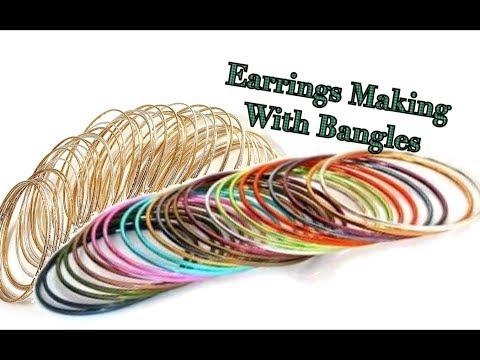 Designer Earrings making with bangles