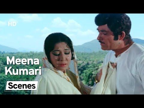 Meena Kumari - Scene Compilation - Pakeezah Movie Scenes - Hindi Movie