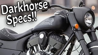 9. 2017 Indian Chief Darkhorse Specs and Walkaround!