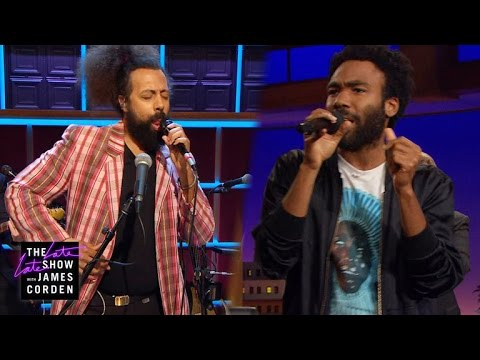 """Reggie Watts spontaneously asks Donald Glover, """"Do you want to Jam?"""""""