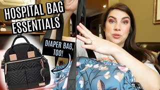 WHAT'S IN MY HOSPITAL BAG: Labor & Delivery (and Diaper Bag!) 3rd Time Mom by Beauty Broadcast