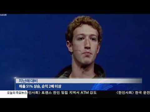 페이스북 분기실적 '껑충'…모바일 이용자 급증 2.1.17 KBS America News