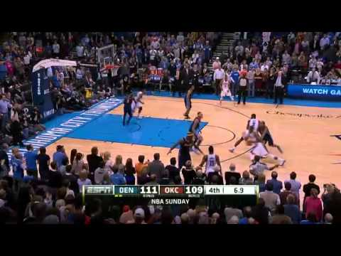 Durant Westbrook and Ibaka set records vs. Nuggets; 2/19/12
