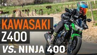 8. Kawasaki Z400 vs. Ninja 400