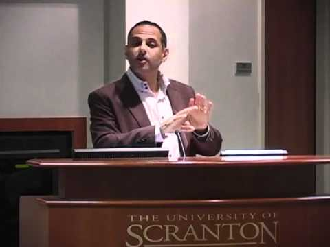 Moustafa Bayoumi speaks at the University of Scranton