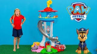 PAW PATROL Nickelodeon My Size Lookout Tower with Chase and Marshall