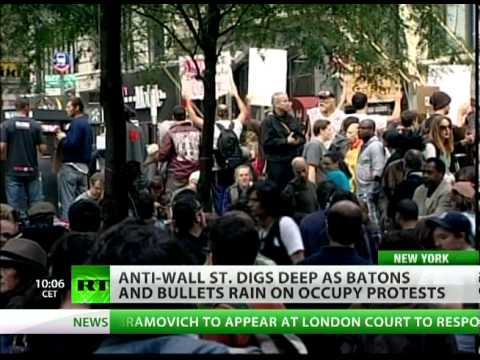 OWS digs deep as batons & bullets rain on