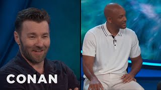 """Joel drove around the streets of L.A. looking like a reptile for """"Bright,"""" but the only thing people seemed to notice was Will Smith.More CONAN @ http://teamcoco.com/videoTeam Coco is the official YouTube channel of late night host Conan O'Brien, CONAN on TBS & TeamCoco.com. Subscribe now to be updated on the latest videos: http://bit.ly/W5wt5DFor Full Episodes of CONAN on TBS, visit http://teamcoco.com/videoGet Social With Team Coco:On Facebook: https://www.facebook.com/TeamCocoOn Google+: https://plus.google.com/+TeamCoco/On Twitter: http://twitter.com/TeamCocoOn Tumblr: http://teamcoco.tumblr.comOn YouTube: http://youtube.com/teamcocoFollow Conan O'Brien on Twitter: http://twitter.com/ConanOBrien"""