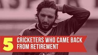 Video Top 5 Cricketers Who Returned After Retirement - Simbly Chumma MP3, 3GP, MP4, WEBM, AVI, FLV November 2018