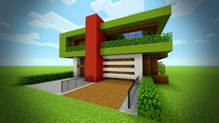 MINECRAFT: How to build a Modern House - Tutorial | Big Mansion House | Christmas House 2016