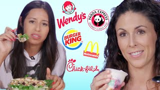 Trying the Healthiest Food from Every Fast Food Chain!  (Cheat Day) by Clevver Style