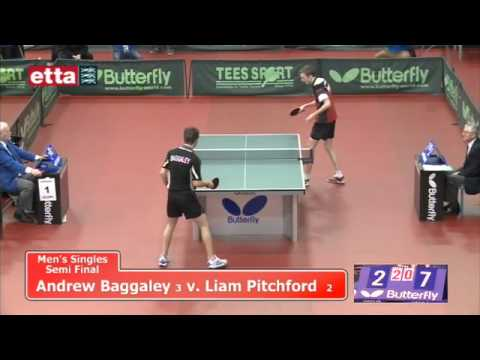 Nationals - Men's Singles Semi-final - Andrew Baggaley v Liam Pitchford