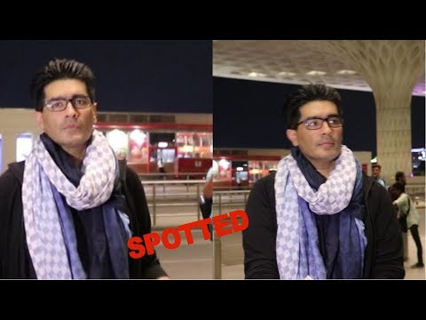 Manish Malhotra Spotted At Airport