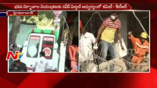 ndrf speed up rescue operations at nanakramguda building collapse ntv