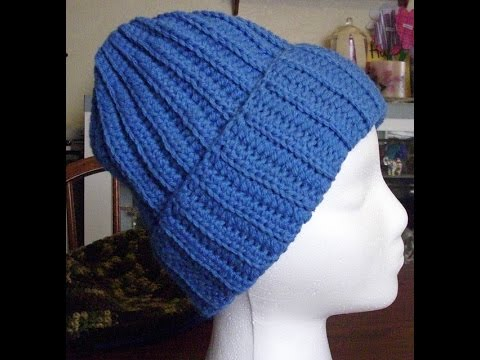 Crochet Ribbed Hat Part 1