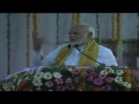 PM Shri Narendra Modi addresses public meeting in Varanasi, Uttar Pradesh. Mar 12, 2018