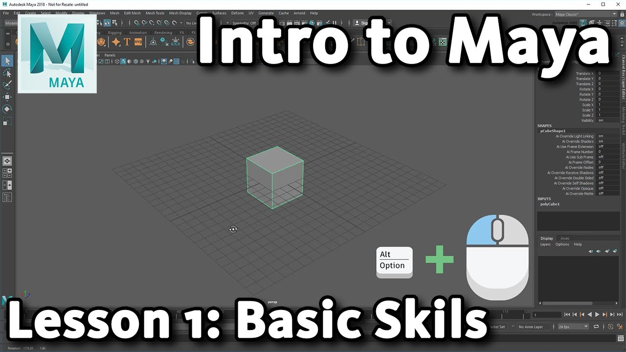 basic skills 3d maya tutorial