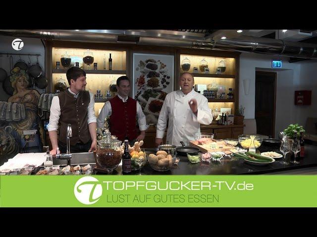 Kalbfleischpflanzerl mit lauwarmem Kartoffelsalat   Topfgucker-TV