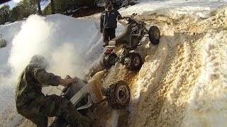 7. Yamaha Warrior 350 Leaves Two Banshee ATVs Behind
