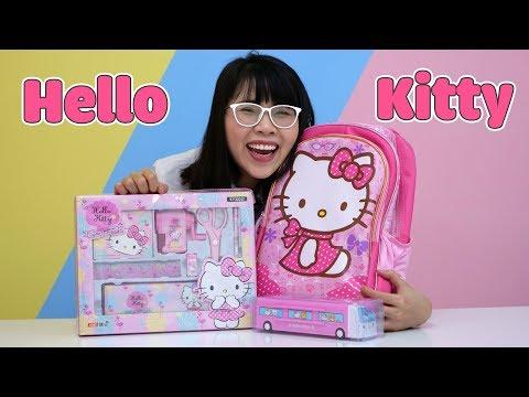 Mở Hộp Bộ Dụng Cụ Học Tập Hello Kitty Cực Đáng Yêu - Thời lượng: 12 phút.