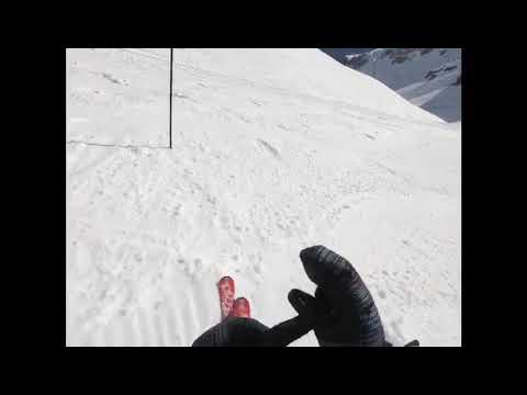 Гонка за жизнь! Сход лавины в швейцарских Альпах, курорт Кран-Монтана