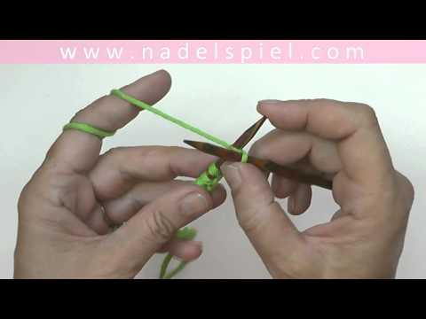 Stricken lernen mit eliZZZa #03 * Maschenanschlag * Schlingenanschlag