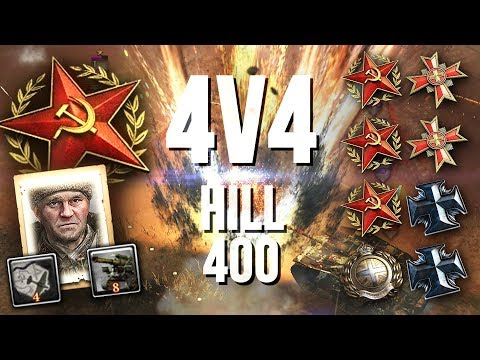 CRAZY ENDING: Greyshot117 Rallies The Axis [4v4] [SOV] [Hill 400] — Company Of Heroes 2