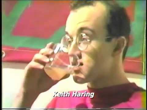 Keith Haring's New Year's Eve Party with his paintings and favorite music (1984)
