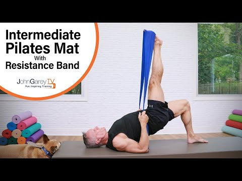 Intermediate Pilates Mat Workout With Resistance Band - 15 Minutes