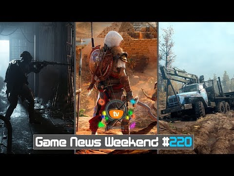 Игровые Новости — Game News Weekend #220 | (Assassin's Creed Origins, MudRunner, Hunt: Showdown) (видео)