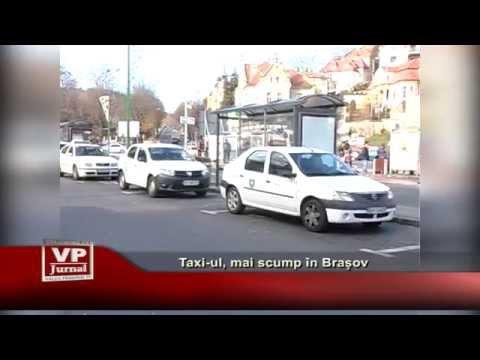 Taxi-ul, mai scump in Brasov