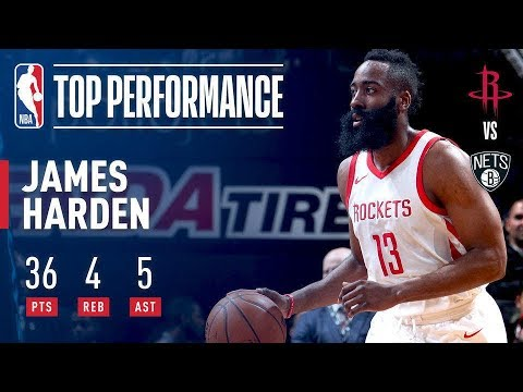 James Harden Puts Up Another 30+ Point Game In Brooklyn