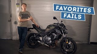 10. 2017 Kawasaki Z650 - Favorites & Fails