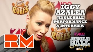 See more performances/interviews from Z100's Jingle Ball at: http://www.realmagictv.comThis quick glimpse of Z100's Jingle Ball spotlights  Iggy Azalea on stage and behind the scenes at Madison Square Garden.Real Magic TV has all of the high-definition interviews and performances from New York City's hottest concert of the year: Z100's Jingle Ball 2014. Go backstage and in the front row at Madison Square Garden, featuring appearances and performances from Maroon 5, Ariana Grande, Sam Smith, Iggy Azalea, Pharrell, 5 Seconds of Summer, Calvin Harris, Taylor Swift, OneRepublic, Jessie J, Meghan Trainor, Charli XCX, Shawn Mendes, Rita Ora, Rixton, Nick Jonas, Sarah Jessica Parker, Emma Roberts, Elvis Duran, and Ryan Seacrest at this year's mega event.You can interact with all of the artists by submitting questions for them for future Real magic TV tapings. Check out the individual artist profile pages on the official Real Magic TV site.