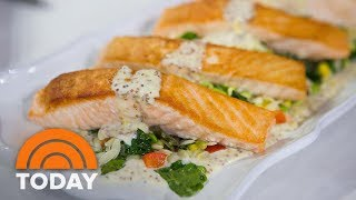 TODAY contributor Giada De Laurentiis is in the kitchen with Al Roker to demonstrate how to make a light fish dish for summer...