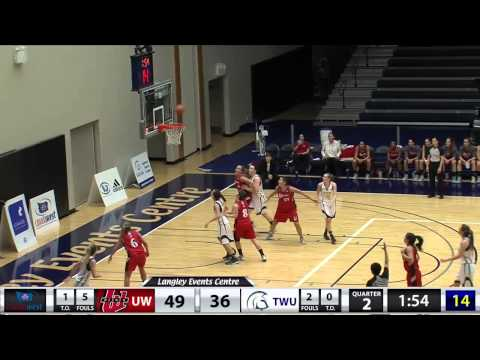 2015-02-06 TWU Women's Basketball Highlights vs Winnipeg