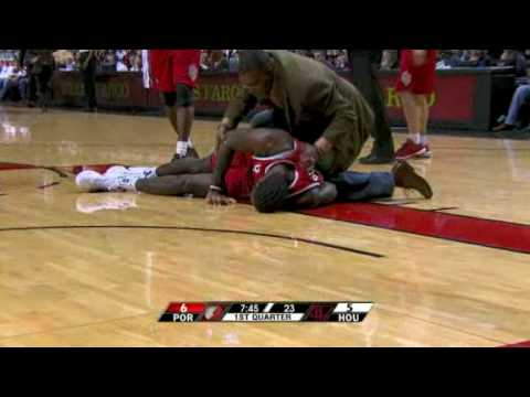 Greg Oden injury vs. Houston Rockets