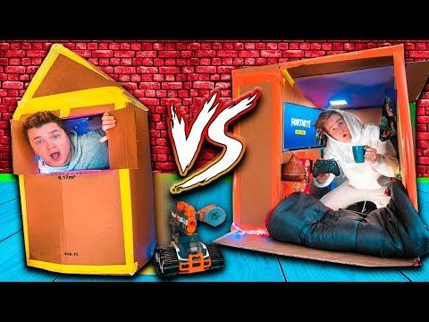 WORLDS Smallest Box Fort 24 Hour Challenge BUILD CONTEST! Fortnite, Beyblades, Xbox One & More!_A héten feltöltött legjobb extrémsport videók