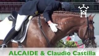 Claudio Castilla y ALCAIDE de Yeguada La Perla, hoy en la pista del Deodoro Stadium, en las Olimpiad