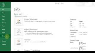 Microsoft Excel 2013 pt 1 (Enter/Delete/Edit cells, Save, Open, Formula)