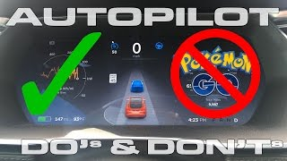 Top 10 Tesla Autopilot Do's and Don'ts by DragTimes