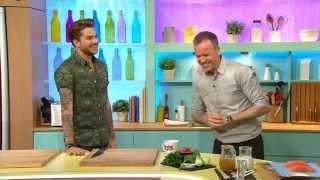 Adam Lambert Cooking on Sunday Brunch