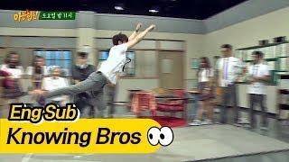 Video [Exclusive] 'Backwards long jump' by Kyung Hoon, the body gag expert- Knowing Bro MP3, 3GP, MP4, WEBM, AVI, FLV Januari 2019