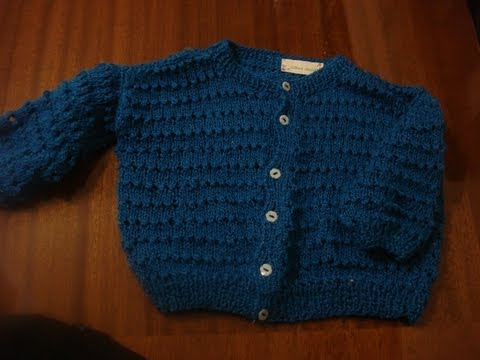 Suéter Para Bebe en 2 agujas Parte 1 de 2