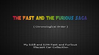 The Fast And The Furious Saga  Timeline Chronological Order In Diecast