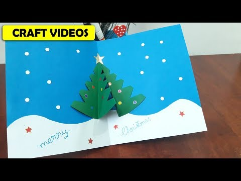 How to make CHRISTMAS CARDS at home step by step